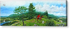 Acrylic Print featuring the painting The Post Road by Cliff Spohn