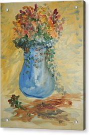 The Pot Belly Vase Acrylic Print by Edward Wolverton