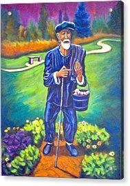 The Potato Man Acrylic Print by Steve Lawton