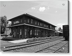 The Potlatch Train Station Acrylic Print by Matt McCune