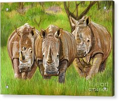 The Power In Three Acrylic Print