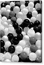 The Power Of Black And White Acrylic Print by Carol F Austin