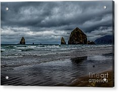 The Power Of The Sea Acrylic Print by Jon Burch Photography