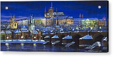 The Prague Panorama Acrylic Print by Yuriy  Shevchuk