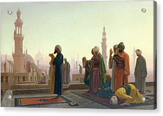 The Prayer Acrylic Print by Jean Leon Gerome