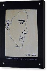 The President Barack Obama. Acrylic Print by Bucher