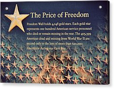 The Price Of Freedom Acrylic Print by Marianna Mills