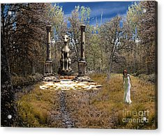The Priestess Of The Dragon Acrylic Print by The Hybryds