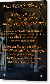 The Priestly Aaronic Blessing Acrylic Print