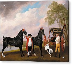 The Prince Of Wales's Phaeton Acrylic Print by George Stubbs