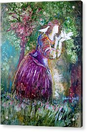 The Princess And The Birds Acrylic Print