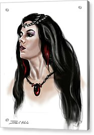 The Princess Morgana Acrylic Print by James Christopher Hill