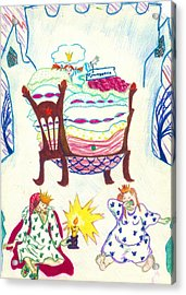 The Princess On A Pea Acrylic Print by Rae Chichilnitsky