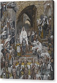 The Procession In The Streets Of Jerusalem Acrylic Print