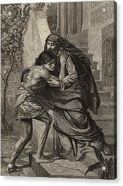The Prodigal's Return Acrylic Print by Sir Edward John Poynter