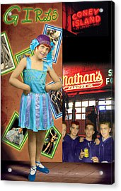 The Promise Of The Hoochi Coochie Showman's Daughter Acrylic Print by Max Scratchmann