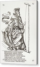 The Prophet Isaiah, Holding The Saw Acrylic Print