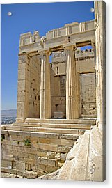 The Propylaia In Athens          The Propylaia - Vertical                                    Acrylic Print by Rich Walter