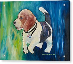 The Proud Puppy Acrylic Print