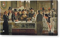 The Public Bar Acrylic Print by John Henry Henshall