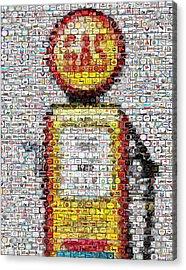 The Pump Mosaic Acrylic Print by Paul Van Scott