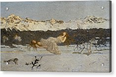 The Punishment Of Lust  Acrylic Print by Giovanni Segantini