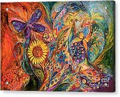 The Purple Butterfly Of Yotvata Acrylic Print by Elena Kotliarker