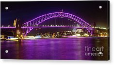Acrylic Print featuring the photograph The Purple Coathanger By Kaye Menner by Kaye Menner