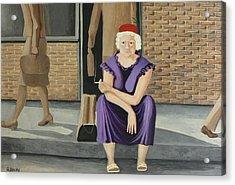The Purple Dress Acrylic Print by Georgette Backs