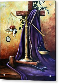 The Purple Robe Acrylic Print by Cynara Shelton