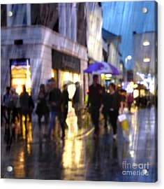 Acrylic Print featuring the photograph The Purple Umbrella by LemonArt Photography