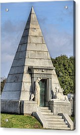 Acrylic Print featuring the photograph The Pyramid In Metairie Cemetery by JC Findley
