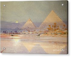 The Pyramids At Dusk Acrylic Print by Augustus Osborne Lamplough