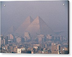 The Pyramids At Giza And Cairo Acrylic Print by Martin Gray