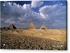 The Pyramids At Giza Acrylic Print by Sami Sarkis