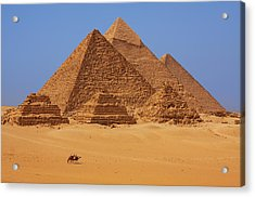 The Pyramids In Egypt Acrylic Print by Dan Breckwoldt