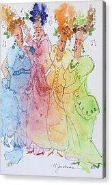 The Quartet Acrylic Print by Marilyn Jacobson