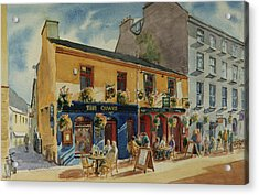 The Quays Pub Galway Acrylic Print by Tomas OMaoldomhnaigh