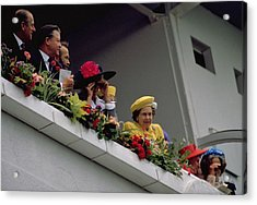 The Queen At Derby Day 1988 Acrylic Print