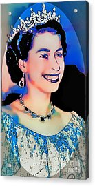 The Queen -  Pop Art Portrait Acrylic Print by Ian Gledhill