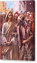 The Question Of The Sadducees Acrylic Print