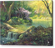 Acrylic Print featuring the painting The Quiet Creek by Michael Humphries