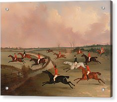 The Quorn Hunt In Full Cry Acrylic Print