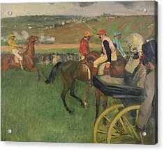 The Race Course Acrylic Print by Edgar Degas