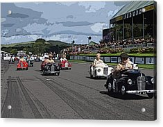 The Race Is On Acrylic Print