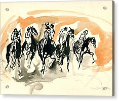 The Race Acrylic Print by Mary Armstrong