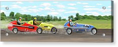The Racers Acrylic Print by Gary Giacomelli