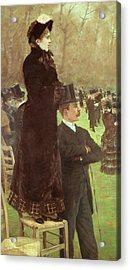 The Races At Auteuil Acrylic Print by Joseph de Nittis