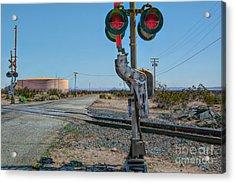 The Railway Crossing Acrylic Print