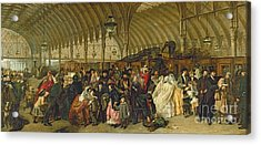 The Railway Station Acrylic Print by William Powell Frith